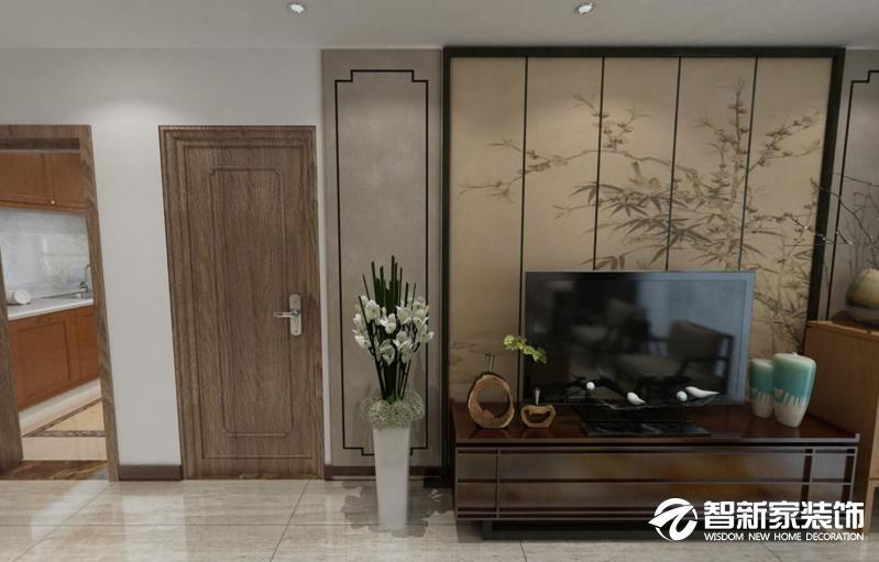 哈尔滨 哈西 西典家园 50米 新中式风格装修效果图