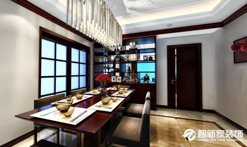 哈尔滨 保利颐和家园 122米 中式风格装修案例