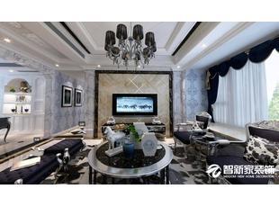 哈尔滨 哈西金域蓝城 155米 黑色欧式风格装修案例