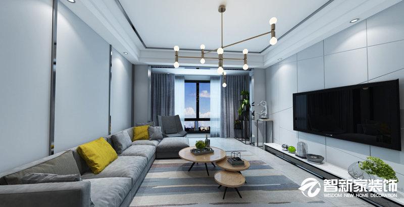 哈尔滨 远大都市明珠 115平米 现代简约风格装修效果图
