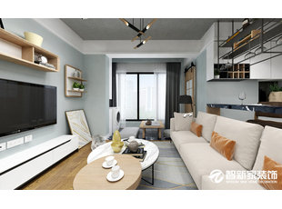 哈尔滨 海富康城 58平米 小户型 现代简约风格装修效果图