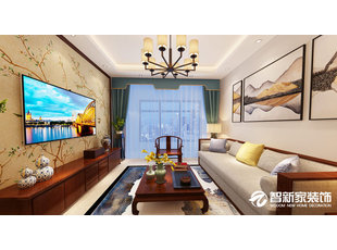 哈尔滨 玫瑰湾二期珑岸 124米 中式风格装修效果图