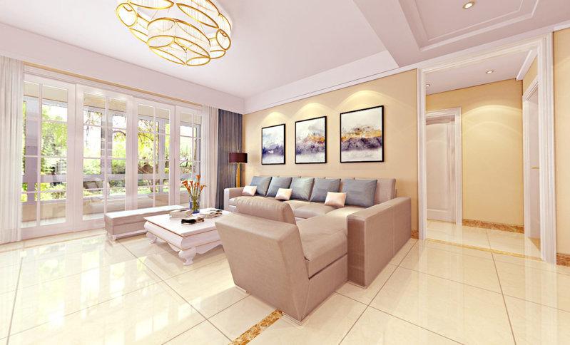 哈尔滨玫瑰湾159米现代风格装修效果图