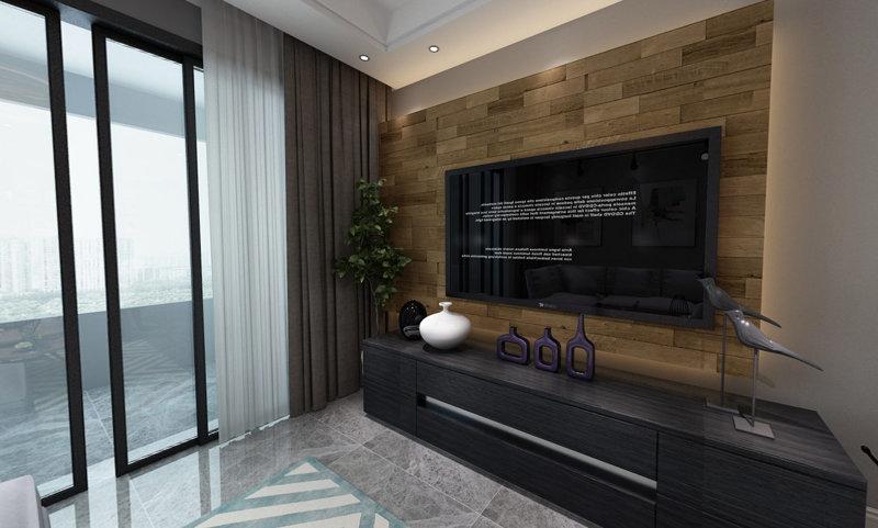 哈尔滨哈西悦城66平米现代简约风格装修效果图