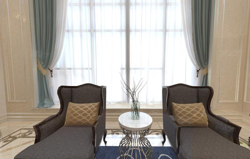 哈尔滨世茂都柏林380平米欧式风格别墅装修效果图