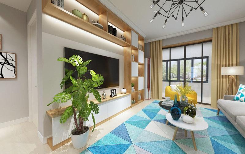 哈尔滨英伦名邸48.3平米现代简约小户型装修效果图
