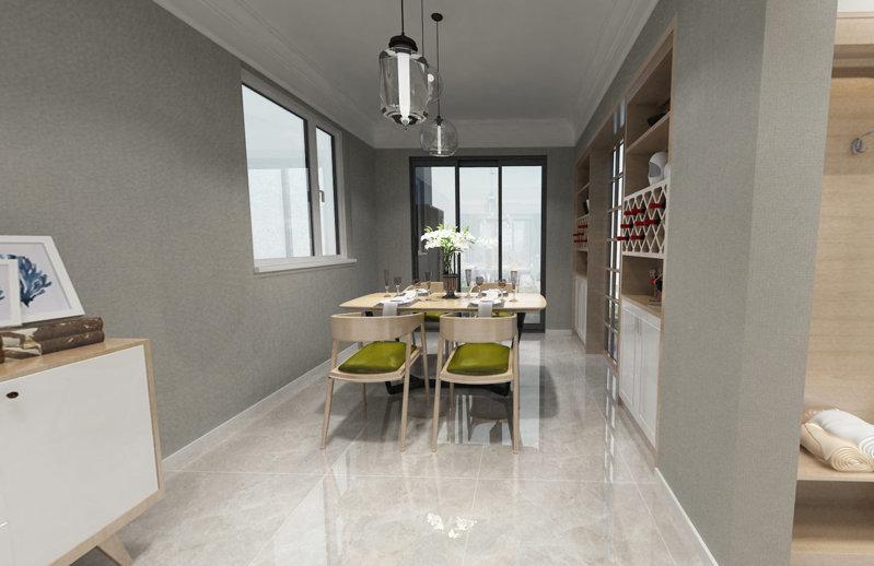 哈尔滨紫金城69.8平米黑白灰现代风格装修案例