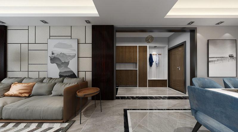 哈尔滨汇锦庄园178米大气港式风格装修设计方案