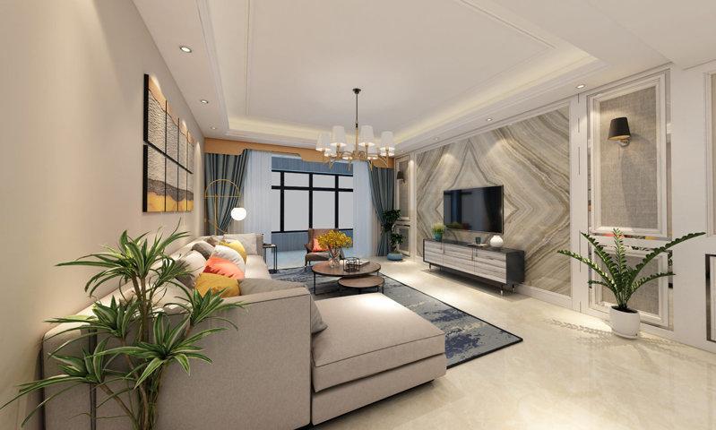 哈尔滨东辉明珠园116平米现代简约风格装修效果图