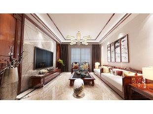哈尔滨盛和世纪130米中式风格装修设计方案