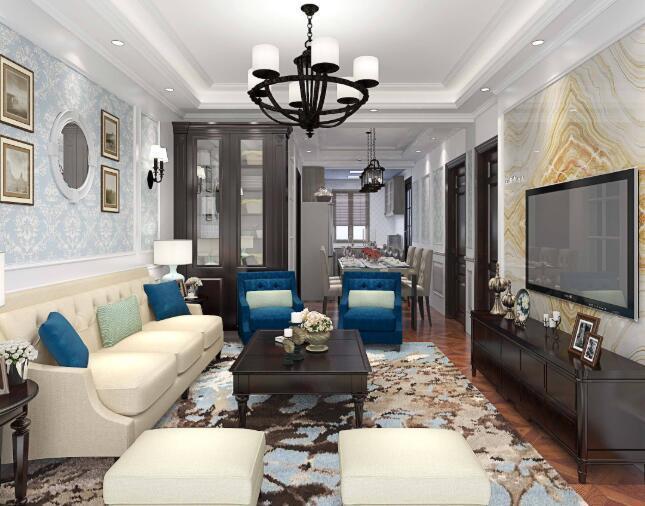豪华氛围三室一厅家装指南-色彩