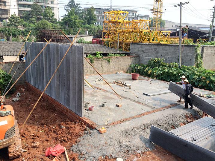 筑步轻质隔墙板建房工程