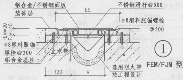 地面变形缝FJM图集做法