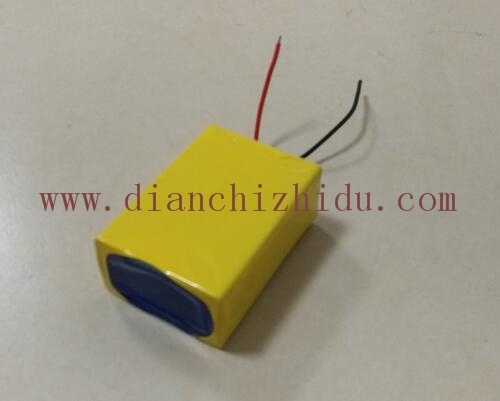 黄色太阳能监控锂电池