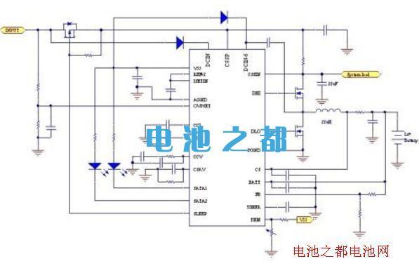 聚合物锂电池保护板充电管理芯片电路图