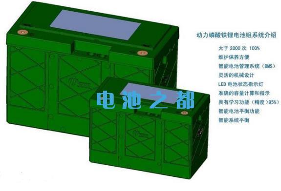 磷酸铁锂动力电池组示例