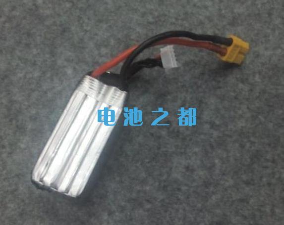 测试完的14.8V1300mAh无人飞机航模锂电池组