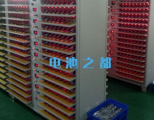 聚合物锂离子电池充放电测试示意图