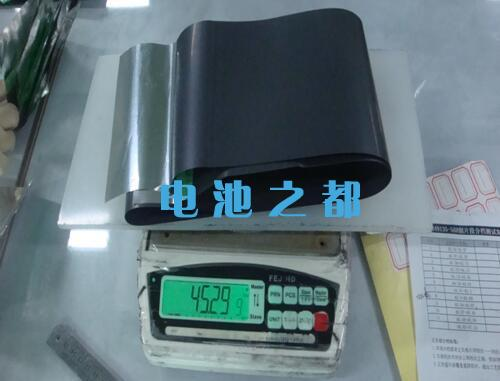 锂电池极片取样称重方法