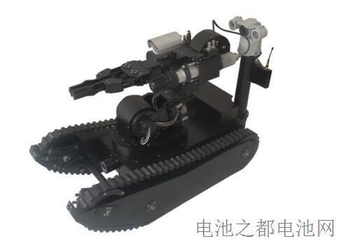 一款用电池的警用排爆机器人