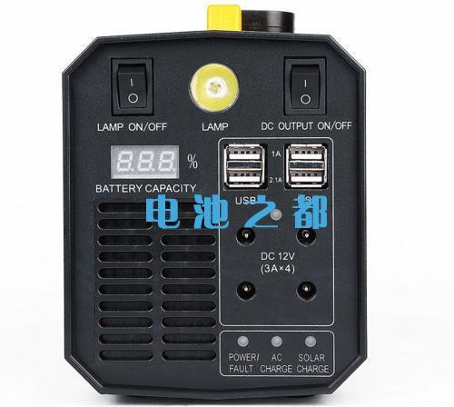 户外储能应急电源输出有USB接口和电量显示说明