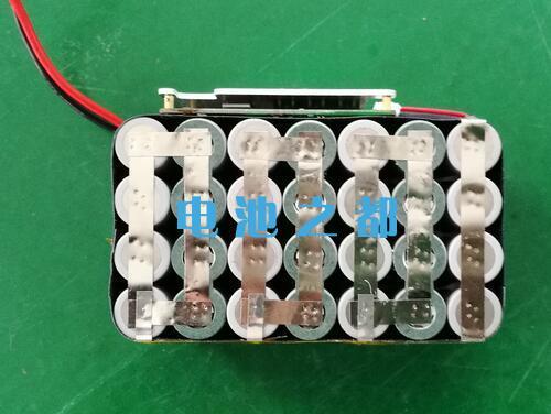 三元25.9V18650锂电池PACK结构实物图