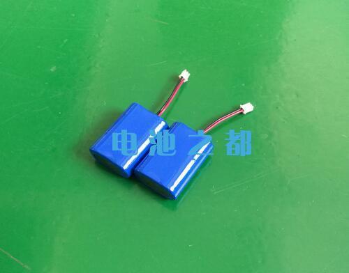 蓝色膜包装的8.4V18650锂电池组