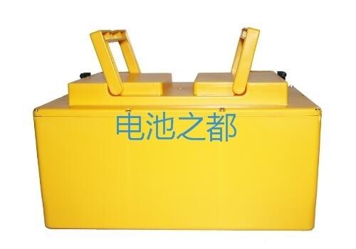 黄颜色的家用电动三轮车电池