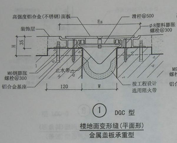楼地面变形缝DGC图集节点