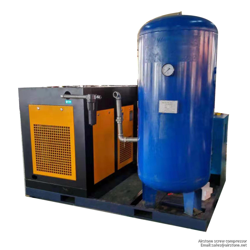 BA-16 OIL-INJECTION 30HP combined air compressor with air dryer and 1000L air tank