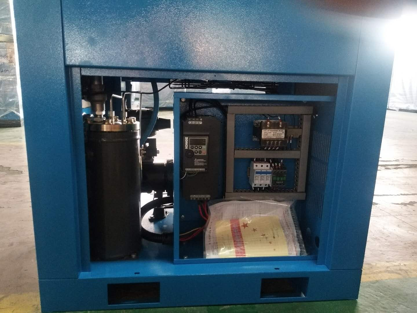 air cooling save 50% energy screw air compressor 7.5kw 10hp