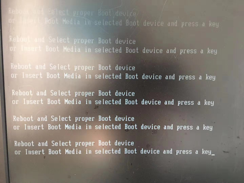 电脑出现reboot and select proper boot device的故障