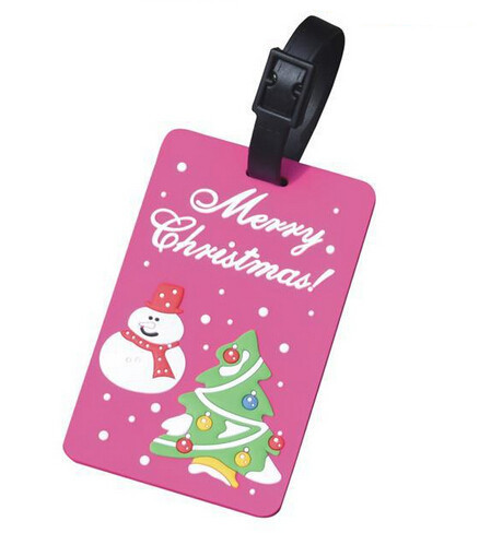 Girls gifts soft pvc christmas type luggage tag