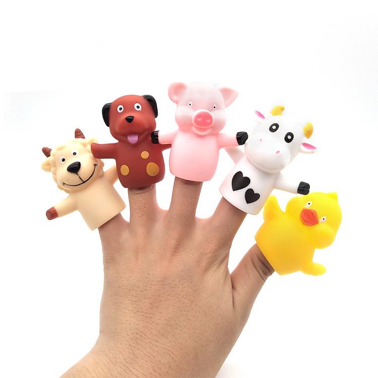 Roto cast craft funny finger vinyl finger puppet