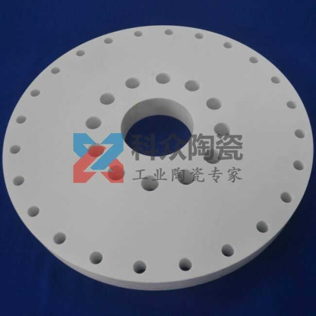 95氧化铝工业陶瓷环多孔加工