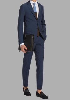 蓝色商务西服套装