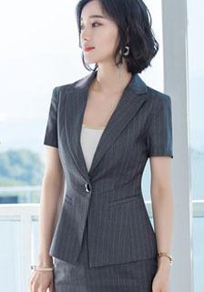 夏季条纹短袖套裙