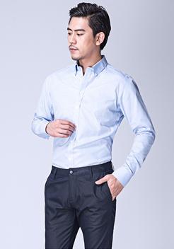 纯棉格纹衬衫定制【绣字】