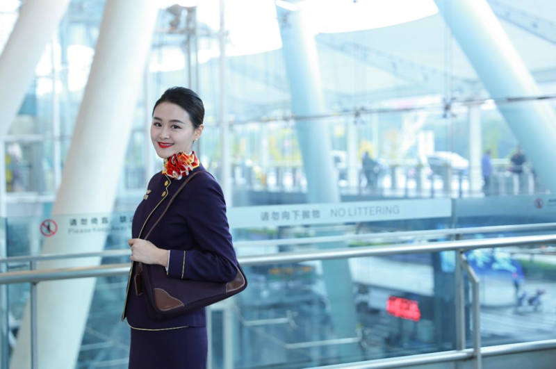 重庆空姐制服,航空工作服定制,空姐制服定做,机场地勤工装