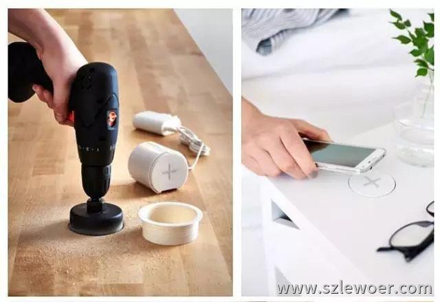 桌面嵌入式无线充电器使用说明之开孔篇