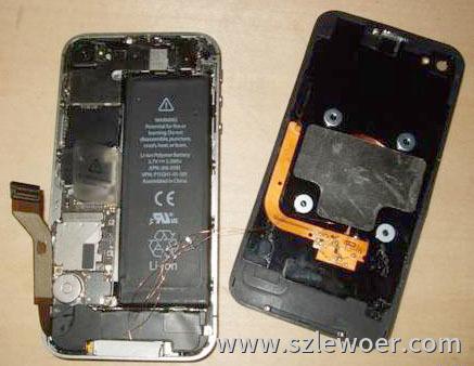 手机无线充电接收方案接收器在手机中安装方式示意图