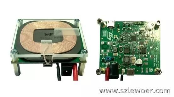 ST意法半导体15W无线充电方案发射端PCBA测试demo