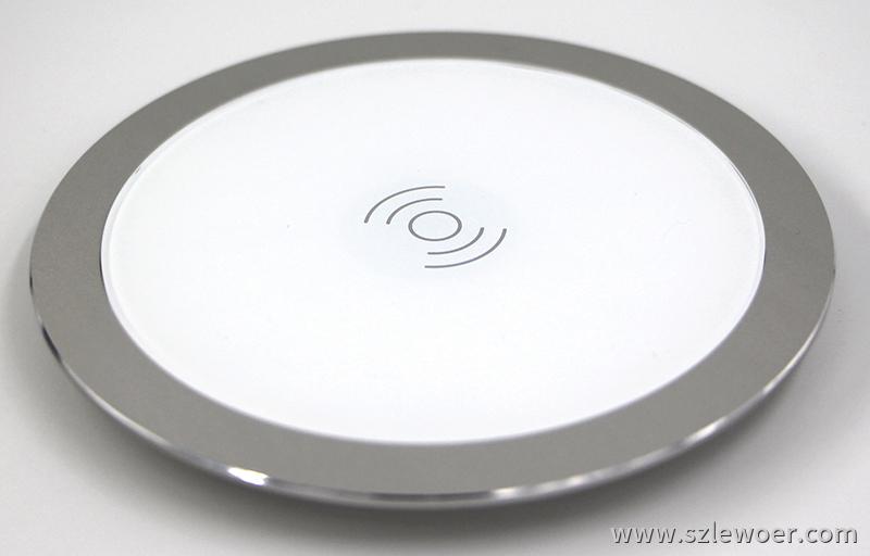利行者LEWOER咖啡桌面嵌入式手机无线充电器(白色款)