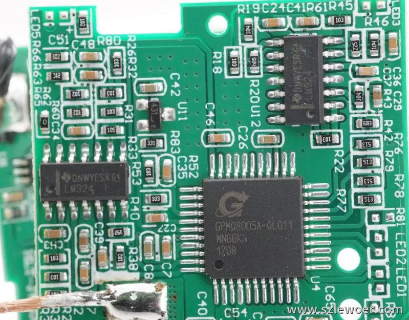 海陆通ARUN无线充电宝拆解分析无线充主控采用凌通GPMQ8005A单片机