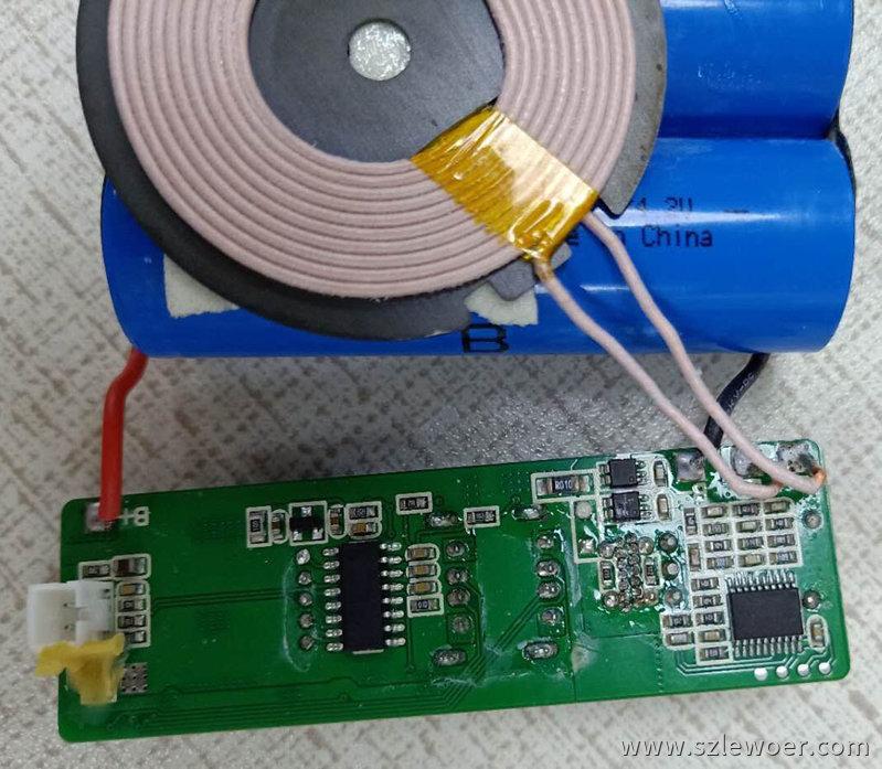 英集芯IP5310移动电源方案芯片搭配MCU做无线充电二合一方案背面图