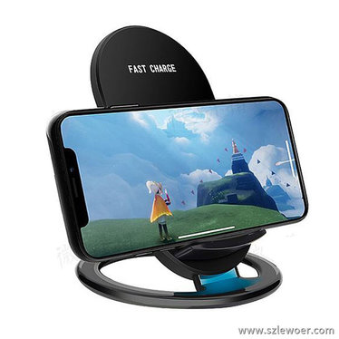 利行者iphone8立式无线充电器10w大功率高效无线充产品