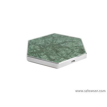 绿色六边形大理石无线充电器兼容5W,7.5W,10W