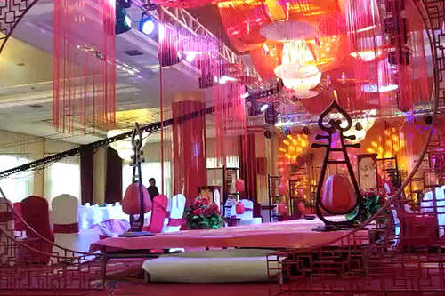 【Video】Chinese wedding stage truss style building