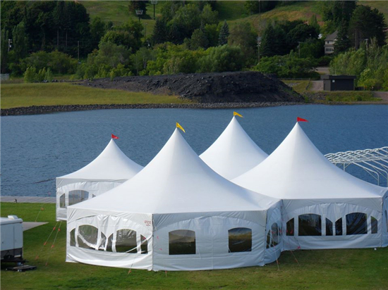 35x40 canopies with 20x20 and sides