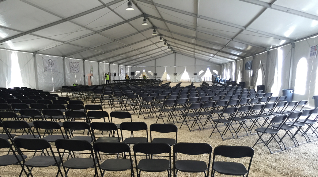 60x197-Losberger-structure-setup-for-KBR-safety-meeting-at-Alliant-Energy-power-plant-header-image